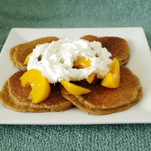 Whole Grain Peach Pancakes