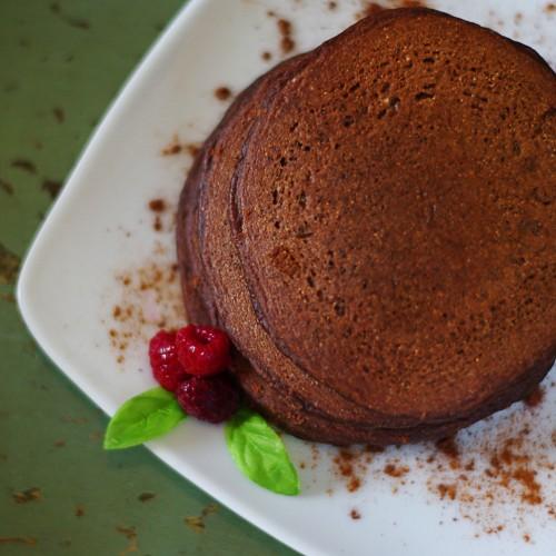 Whole Grain Spelt Chocolate Pancakes