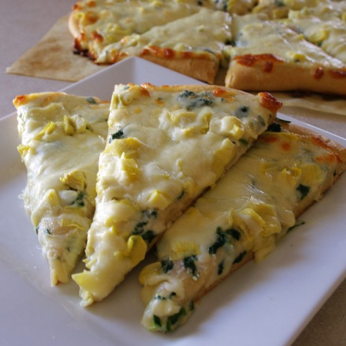 Spinach Artichoke Pizza with KAMUT Crust