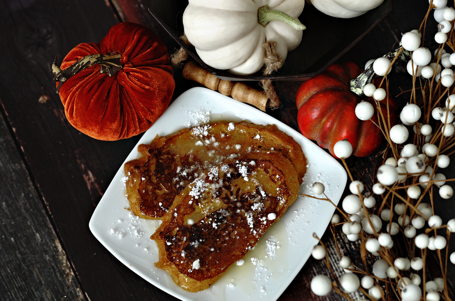 Pumpkin French Toast recipe with Buttermilk syrup